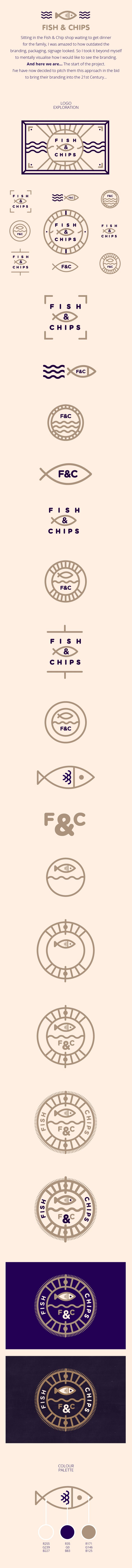Fish & Chips // Branding on Behance