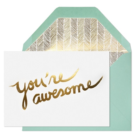 You're Awesome Card is awesome.