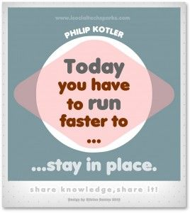 "Philip Kotler – ""today you have to run faster, to stay in place."""