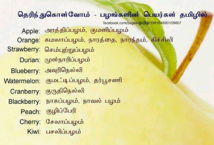 fruit name in tamil