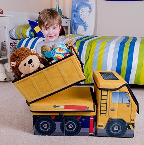 Kids Box Toys Collapsible Construction Dump Truck Storage Organizer Decor Room  #CleverCreations