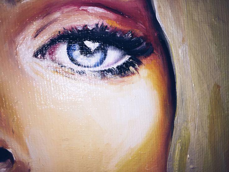 Живопись , арт , живопись маслом , масло , портрет , глаз