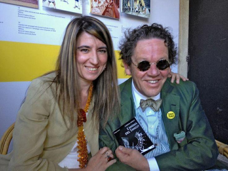 Philippe Daverio e Carina Aprile.    Pubblicazione Libro anno 2010: Carina Aprile, L'Anima del Tango a cura di Philippe Daverio. Editore: Spazio81