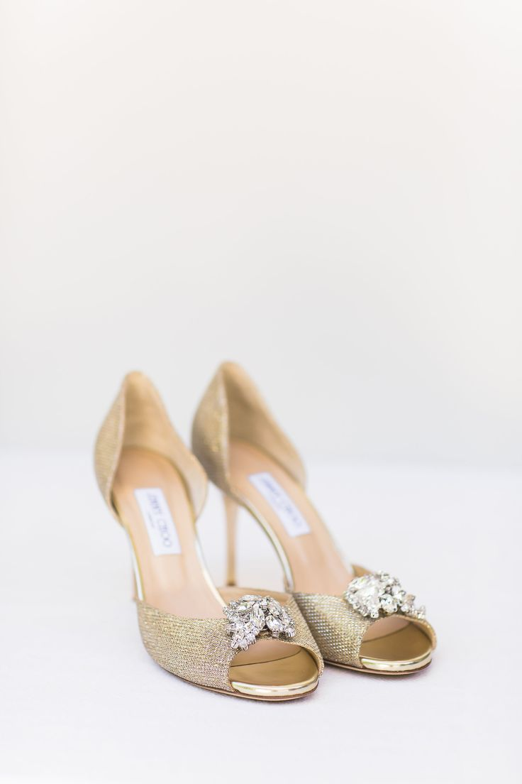 Jimmy Choo shoes. Brides shoes. Embelished shoes. Gold shoes. Image by  Wesley
