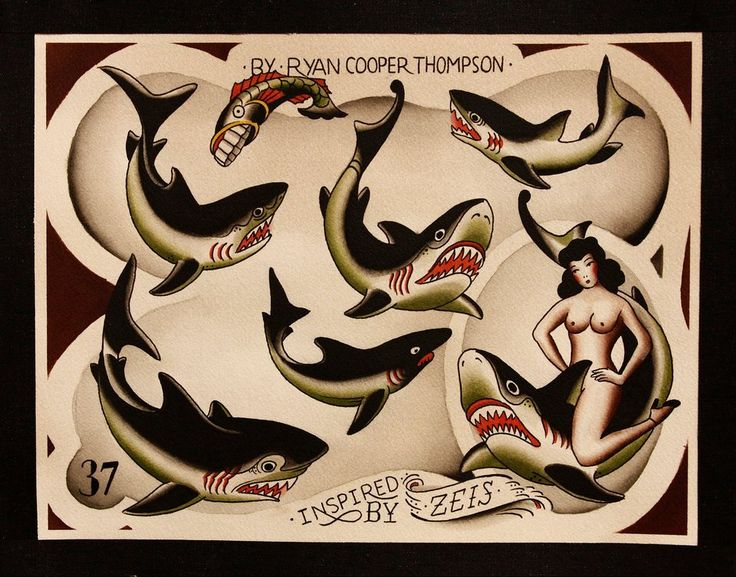 Ryan Cooper Thompson Tattoo Flash | KYSA #ink #design #tattoo