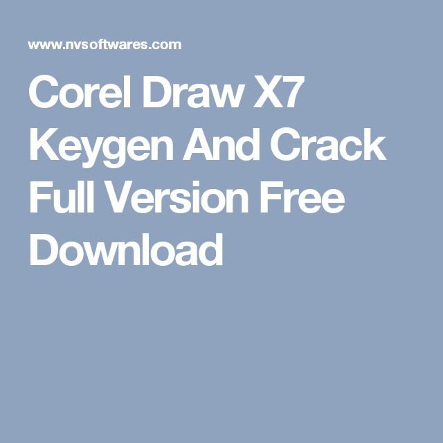 Corel Draw X7 Keygen And Crack Full Version Free Download