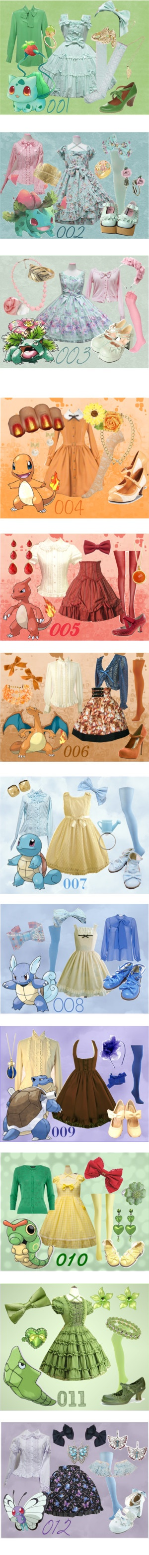 """150 Pokemon Lolitas"" by meiki ❤ liked on Polyvore"