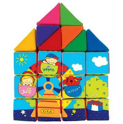 Кубики мягкие развивающие для малышей в виде домика.