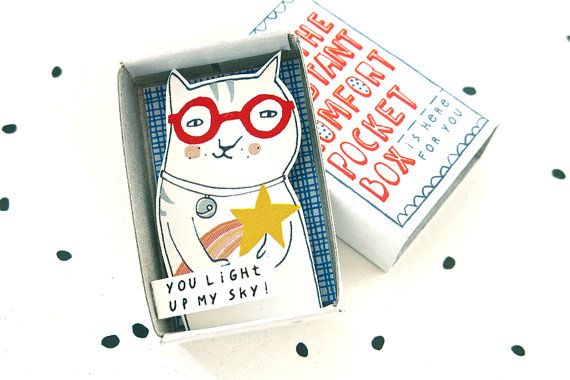 De Instant Comfort Pocket Box  Cat by kimslittlemonsters.etsy.com