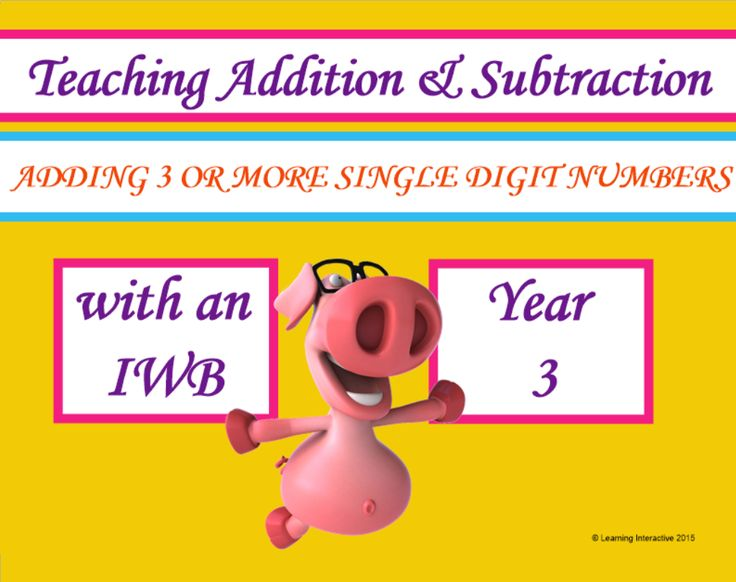 This interactive Year 3 Mathematics resource contains a 12 page SMART Notebook with a range of modelled, guided and independent activities designed to help students to practise the skill of adding 3 or more single digit numbers with an understanding of the associative property of addition. This Notebook also provides opportunity to work with problem solving.  A worksheet, game card and teacher notes are also included to help you get the best use of the resources. $12.95.