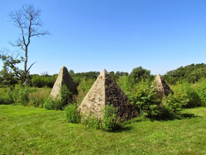 11 Mysterious, Unusual Spots In Iowa  I've been to several! (11. The pyramids at Hickory Grove Cemetery, near Avery)