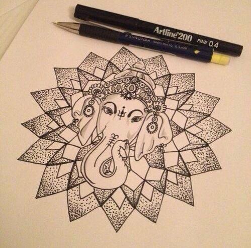Drawing-ganesha . http://teespring.com/prosperity-shirt001_copy_1 #Ganesha,  buddism