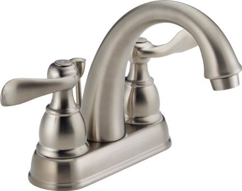 delta foundations b2596lf ss two handle centerset lavatory faucet