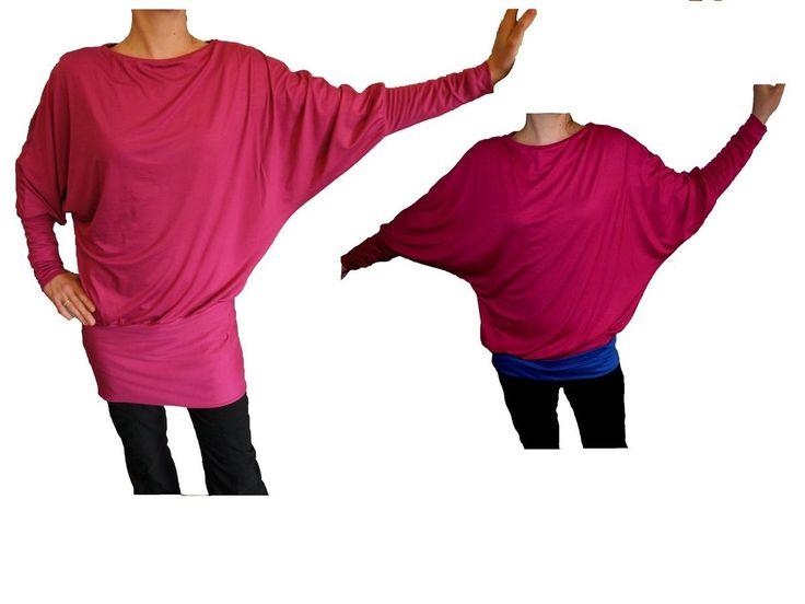 Maike:Tunika/shirt: lang kurz -Gr  34-56 +Bild Nähanleitung - Schnittmuster und Nähanleitungen bei Makerist