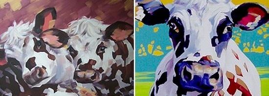 vaches normandes - peintre Allan