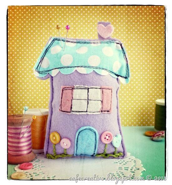 cafe creativo - big shot - felt house pincushion or ornament