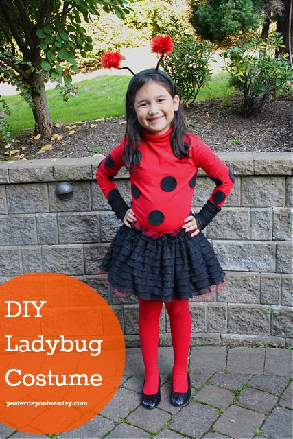 DIY Ladybug Costume: How to make a ladybug costume #halloween #ladybugcostume #yesterdayontuesday