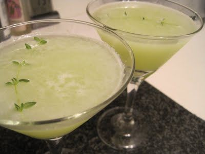 Hendricks Cucumber Thyme Martini recipe from Corcoran Street Kitchen