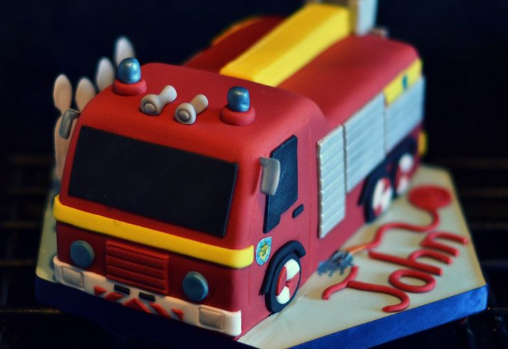 Fireman Birthday Party Fireman Sam Jupiter Fire Engine Cake
