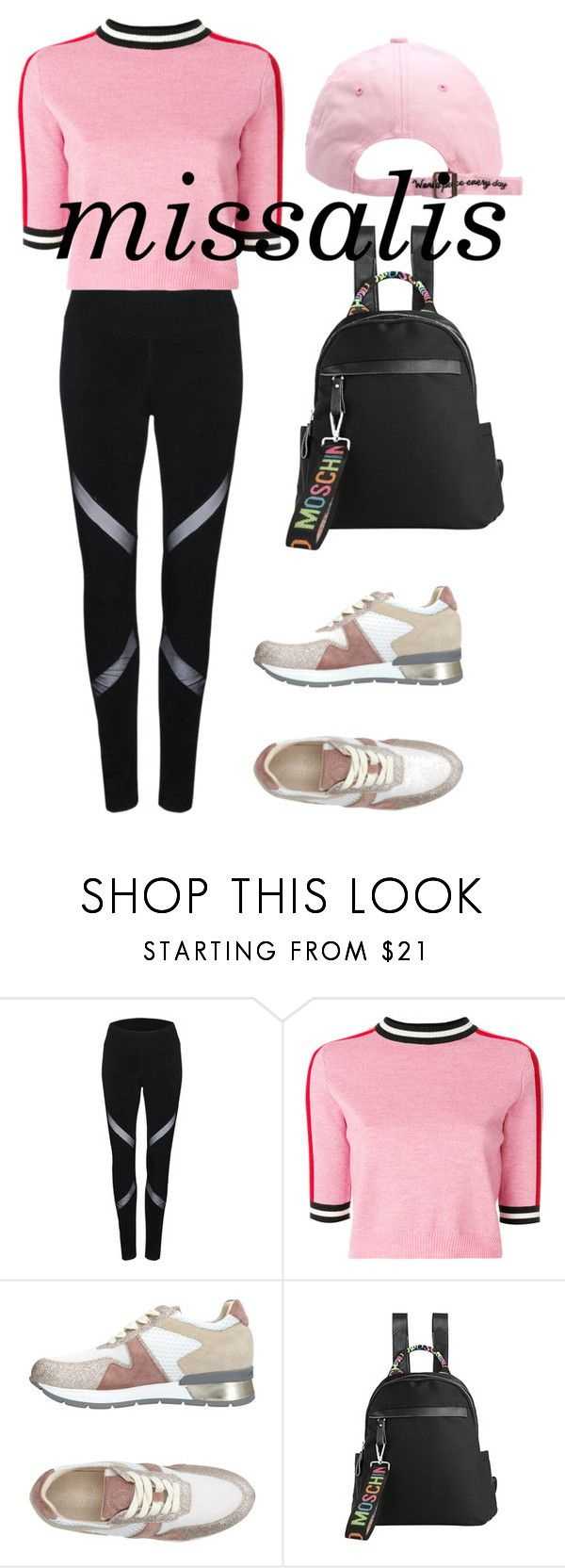 """""""missalis sport backpack"""" by wodluckbeens on Polyvore featuring WithChic, MSGM and Janet Sport"""