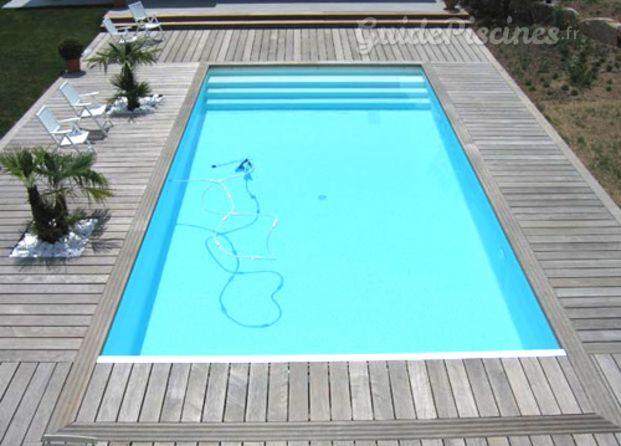 Piscine avec terrasse en bois cosas de casa pinterest for Piscine miroir cout