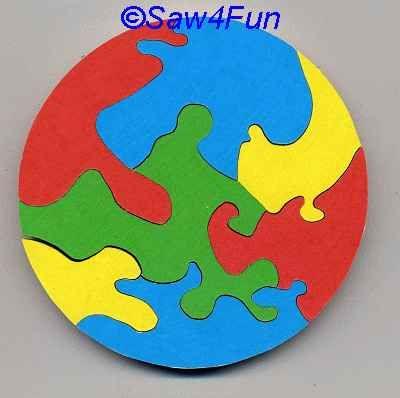 Circle #10 Puzzle Scroll Saw Pattern
