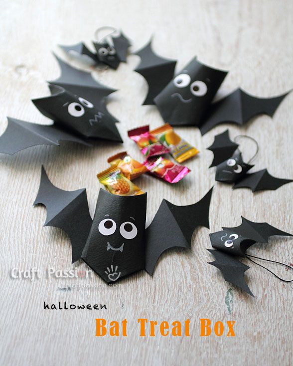 Bat Treat Boxes - Make it for the Halloween