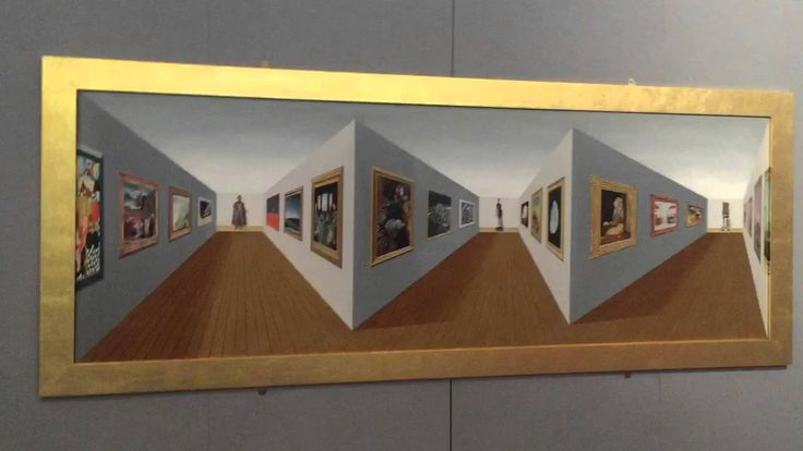 "3D Art - ""Superduperperspective"" - Patrick Hughes - Birmingham Art Gallery - YouTube"