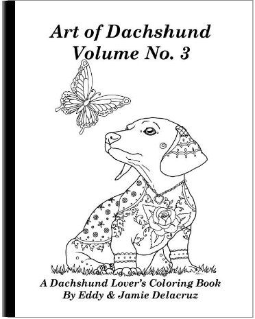 this coloring book consists of 18 hand drawn images of beautiful dachshunds for you to color - Coloring Book Paper Stock