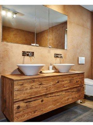 PENELOPE mobile per bagno in legno massello di castagno