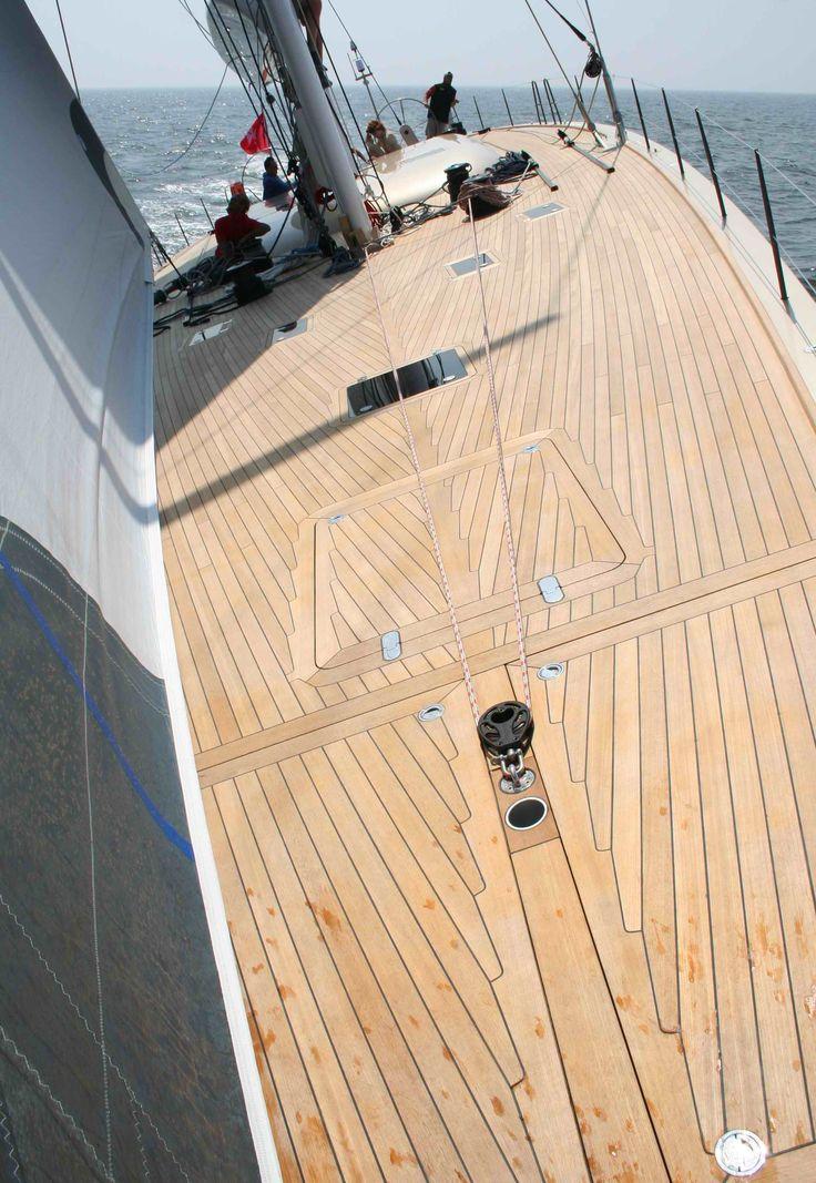 A Beautiful Teak Deck Sailing In 2019 Sailing Ships