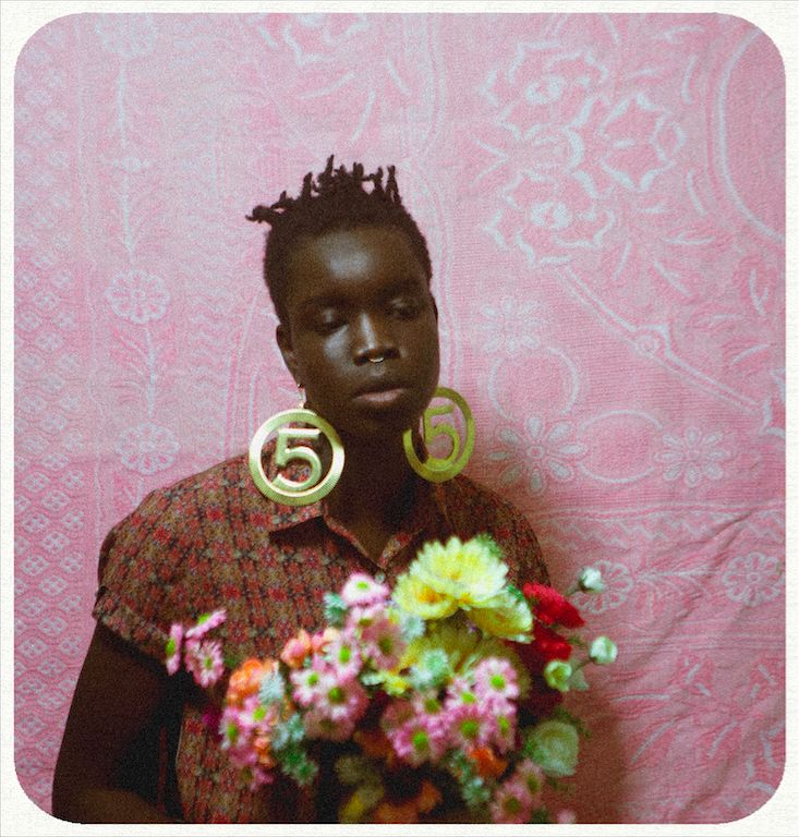 self portraits with flowers