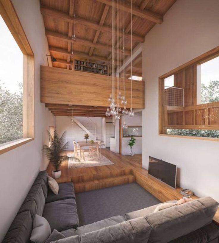 V20 Apartment Modern Architecture And Scandinavian Interior Design Of A Bright Apartment Futuri In 2020 Interior Architecture Sunken Living Room Modern House Design