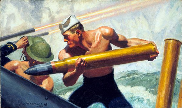 Sailors in Art - Fight, Let's Go: Works by McClelland Barclay