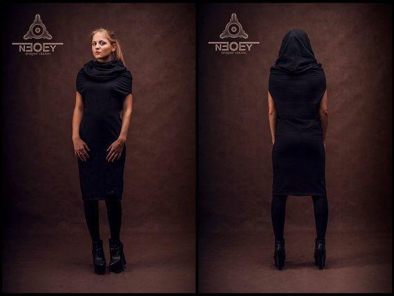 Black Friday! 🔥 10% discount on all products in black colour. Black Extraordinary  jersey dress collar IDO by NEOBY Design hoodies  /hooded sweatshirt/hoodie /hoodie women/hoodie scarf/baza hoodie