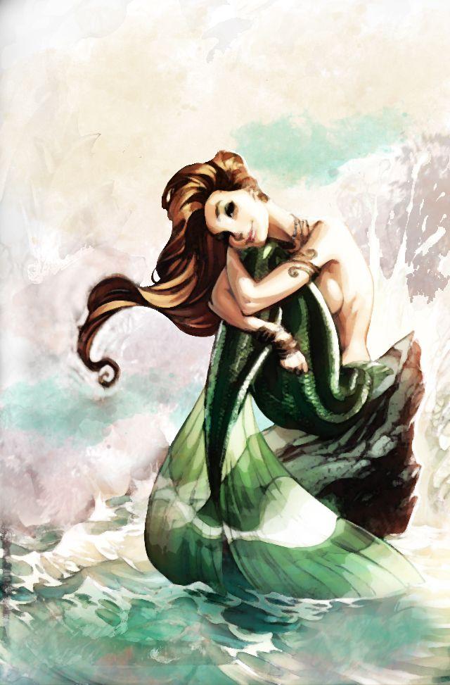 Watercolor Mermaid By Zieann On Deviantart Watercolor