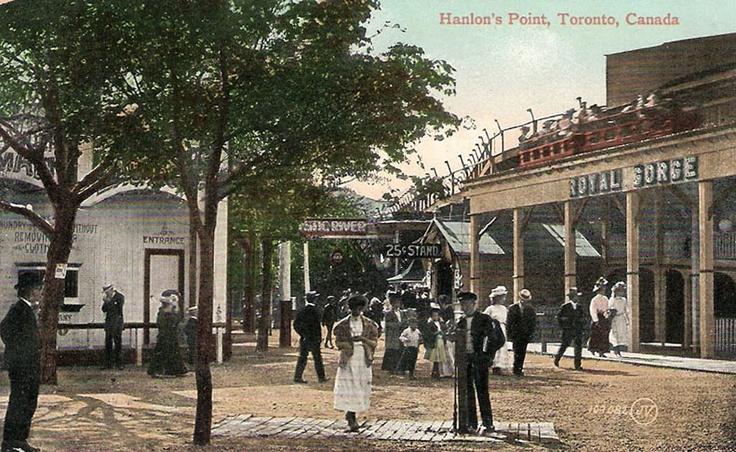 Amusement park at Hanlon's Point, Toronto, Ontario ca. 1909