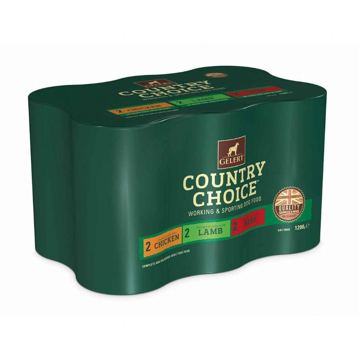 Gelert Country Choice Adult Dog Variety in Jelly Dog Food 6 x 1200g Gelert Country Choice Adult Dog Variety in Jelly Tins are packed with deliciously meaty recipes that are perfect for the adult working dog that loves wet food.
