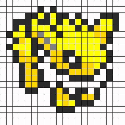 Jolteon - Pokemon pattern   Perler Bead Templates ...