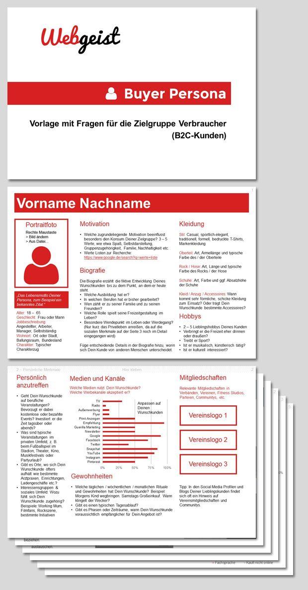 Kundenprofil Fur B2b Kundenperspektive Visualisieren Persona Vorlagen Kunde