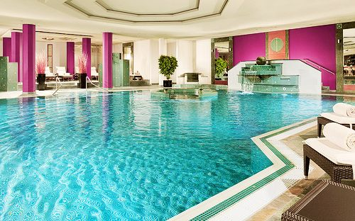 Indoor Pool With Pink Dream House Pinterest Awesome Swimming And Pink Walls