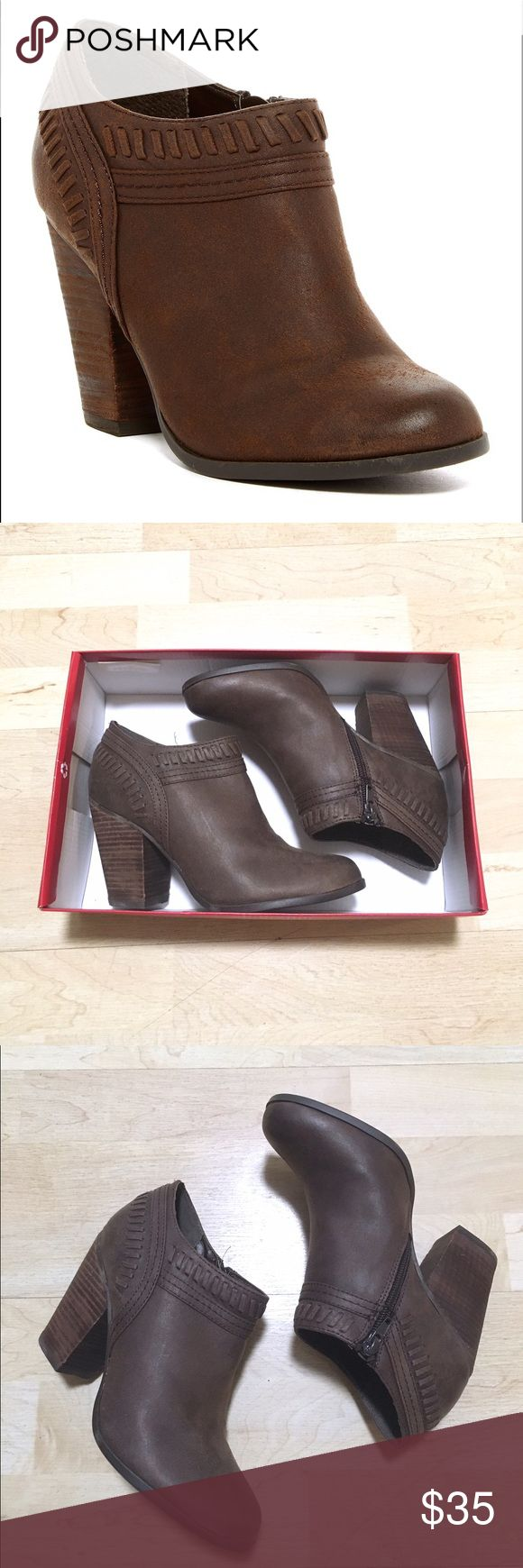 Carlos Santana | Rollins Booties Brown booties from Carlos by Carlos Santana. Size 8 and runs true to size. New in box and never worn! 📬Fast Shipping (will ship same day or next business day if purchased after 3pm)📬🥂10% Off 2+ Items🥂 Carlos Santana Shoes Ankle Boots & Booties