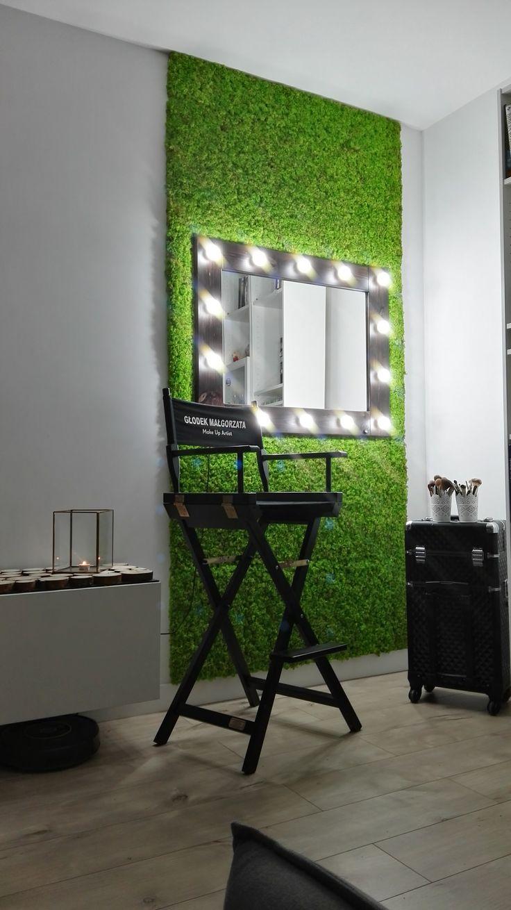 Mech trawiasty, czyli chrobotek ścięty jak piłkarska murawa. Na zdjęciu w gabinecie kosmetycznym u naszych klientów.