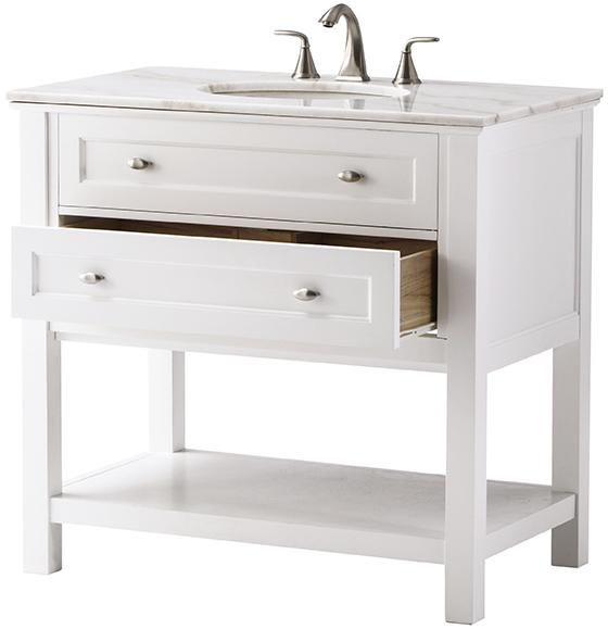I like this one. It will still give the open feel of a pedestal, but allows for storage.