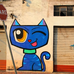 Cool Street Art | Caturday Street Art | By Minhau Minhau on Google+Album