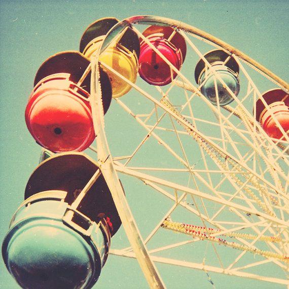 Retro carnival  ferris wheel