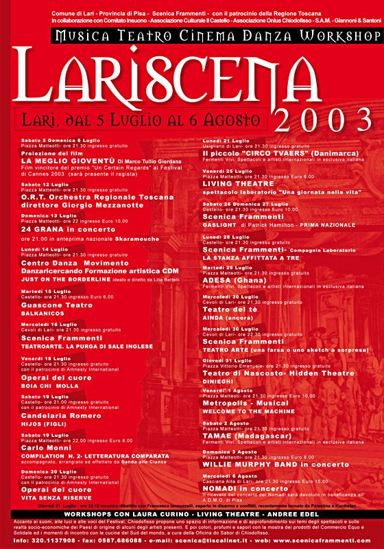 Festival Lariscena 2003 (Michele Fiaschi)