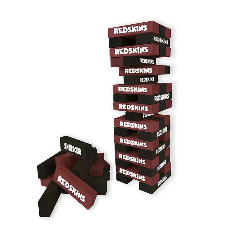 Officially Licensed NFL Table Top Stackers - Redskins