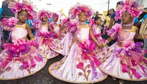 Children in St. James - Carnaval de Trinidad