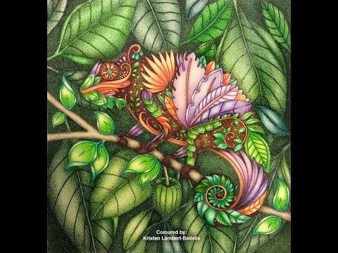 Sharing How I Color The Magical Jungle Using Prismacolor Colored Pencils Coloring Book By Johanna Basford